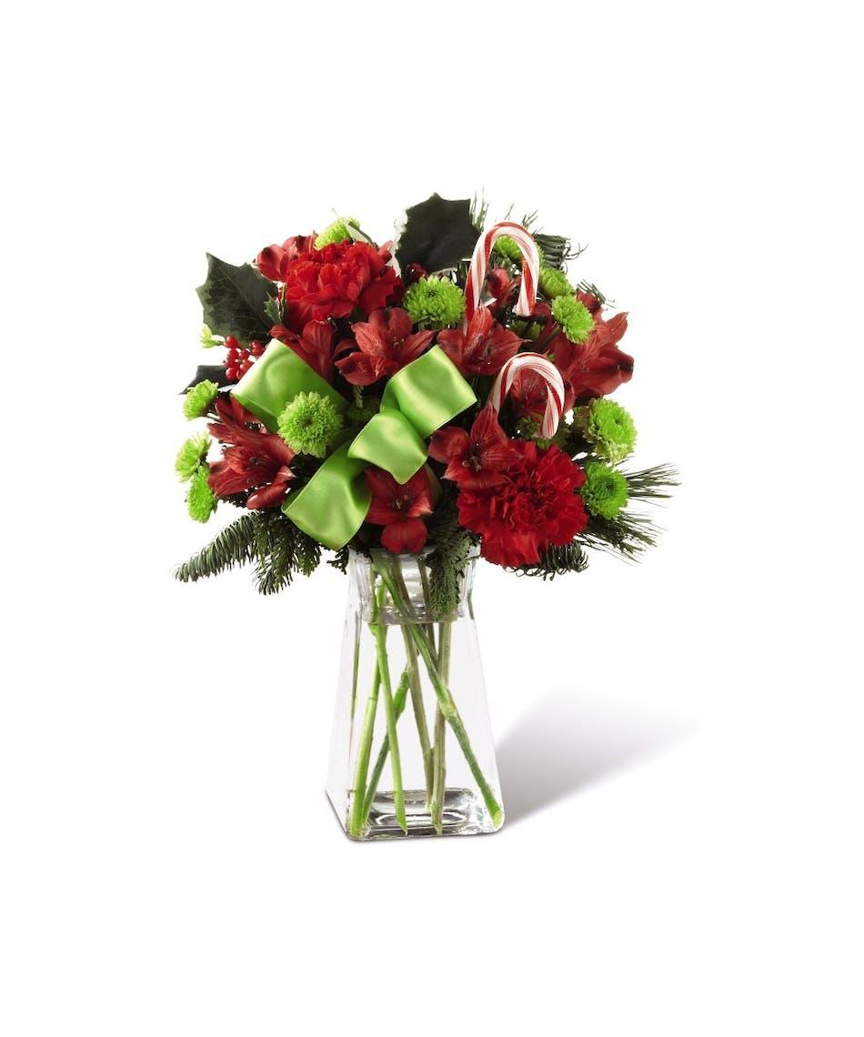 Candy Cane Lane Bouquet - Uniontown, Pennsylvania Florist & Flower ...
