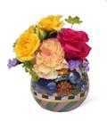 Flower Market Glass Globe