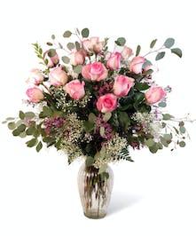 Pink Dozen Roses Uniontown, PA