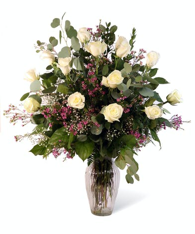 White Dozen Roses Uniontown, PA