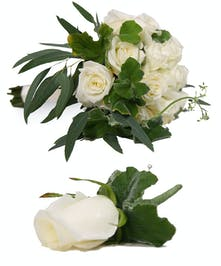 White Rose Hand Tied Bouquet Uniontown, PA
