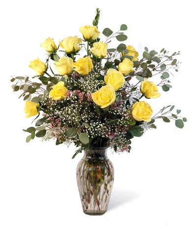 Yellow Dozen Roses Uniontown, PA
