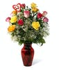 Valentine's Day Bright Mix Roses - Long Stemmed