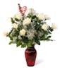 Valentine's Day White Roses - Long Stemmed