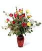 Valentine's Day Bright Mix Roses - Premium