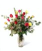 Bright Mixed Dozen Roses - Premium