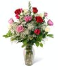 Classic Mixed Dozen Roses - Long Stemmed