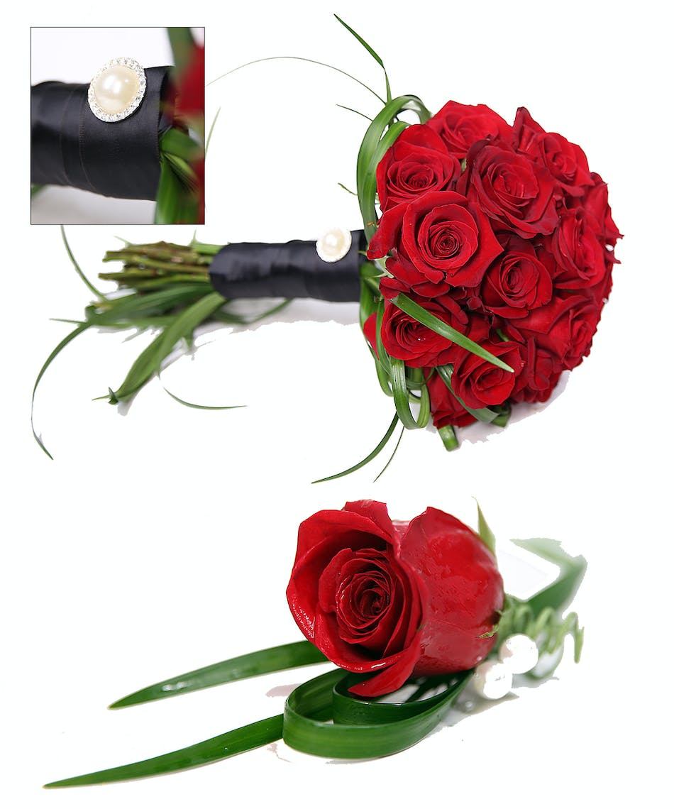 Grand Red Rose Hand Tied Bouquet Uniontown, PA