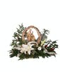 Nativity Scene - White Flowers