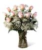 Pink Dozen Roses - Garden Length