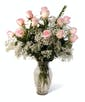 Pink Dozen Roses - Long Stemmed