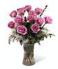 Purple Dozen Roses - Garden Length