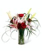 Roses and Stargazer Lilies - Deluxe