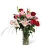 Roses and Stargazer Lilies - Premium
