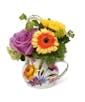 White Flower Market Mug