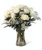 White Dozen Roses - Garden Length