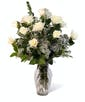 White Dozen Roses - Long Stemmed