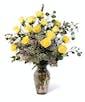 Yellow Dozen Roses - Premium
